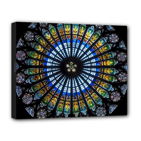 Rose Window Strasbourg Cathedral Deluxe Canvas 20  X 16   by BangZart