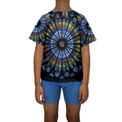 Rose Window Strasbourg Cathedral Kids  Short Sleeve Swimwear
