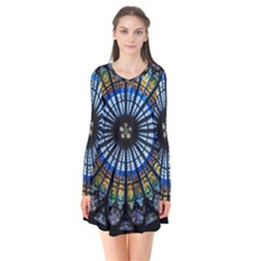 Rose Window Strasbourg Cathedral Flare Dress