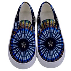Rose Window Strasbourg Cathedral Kids  Canvas Slip Ons