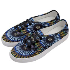 Rose Window Strasbourg Cathedral Women s Classic Low Top Sneakers by BangZart