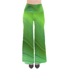 Green Wave Background Abstract Pants