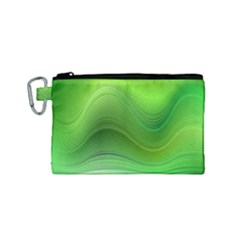 Green Wave Background Abstract Canvas Cosmetic Bag (small)