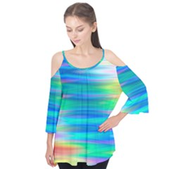 Wave Rainbow Bright Texture Flutter Tees