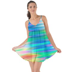 Wave Rainbow Bright Texture Love The Sun Cover Up