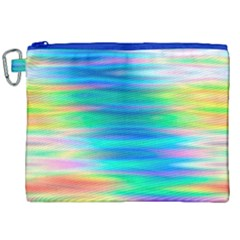 Wave Rainbow Bright Texture Canvas Cosmetic Bag (xxl)