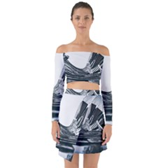 Architecture Modern Skyscraper Off Shoulder Top With Skirt Set