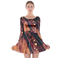 Abstract Wallpaper Images Long Sleeve Skater Dress
