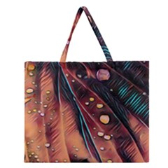 Abstract Wallpaper Images Zipper Large Tote Bag by BangZart