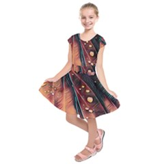 Abstract Wallpaper Images Kids  Short Sleeve Dress