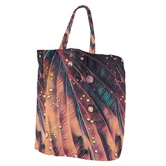 Abstract Wallpaper Images Giant Grocery Zipper Tote