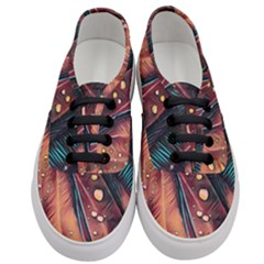 Abstract Wallpaper Images Women s Classic Low Top Sneakers
