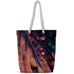 Abstract Wallpaper Images Full Print Rope Handle Tote (small)