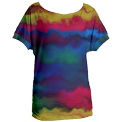 Watercolour Color Background Women s Oversized Tee by BangZart