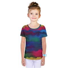Watercolour Color Background Kids  One Piece Tee