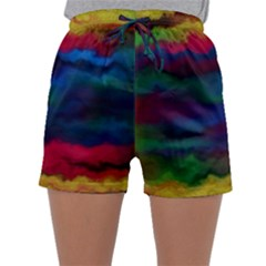 Watercolour Color Background Sleepwear Shorts