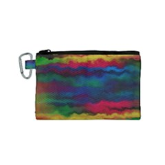 Watercolour Color Background Canvas Cosmetic Bag (small)