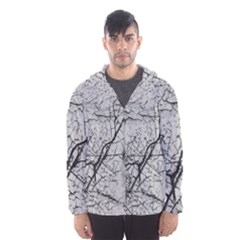Abstract Background Texture Grey Hooded Wind Breaker (men)