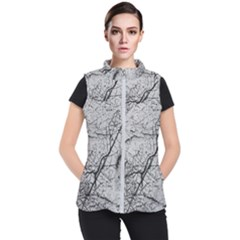 Abstract Background Texture Grey Women s Puffer Vest