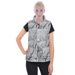 Abstract Background Texture Grey Women s Button Up Puffer Vest