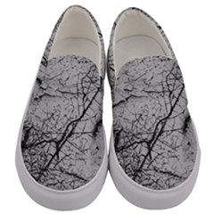 Abstract Background Texture Grey Men s Canvas Slip Ons