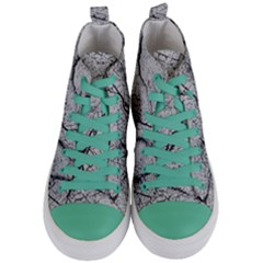 Abstract Background Texture Grey Women s Mid Top Canvas Sneakers
