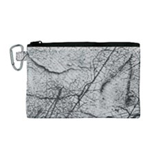 Abstract Background Texture Grey Canvas Cosmetic Bag (medium)