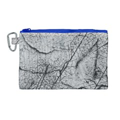 Abstract Background Texture Grey Canvas Cosmetic Bag (large)