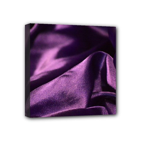 Shiny Purple Silk Royalty Mini Canvas 4  X 4
