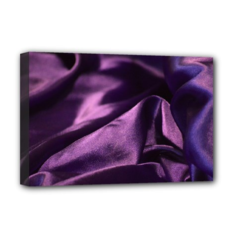 Shiny Purple Silk Royalty Deluxe Canvas 18  X 12   by BangZart