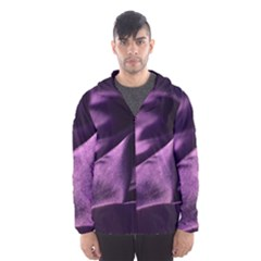 Shiny Purple Silk Royalty Hooded Wind Breaker (men)