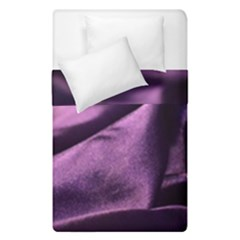 Shiny Purple Silk Royalty Duvet Cover Double Side (single Size)