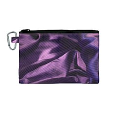 Shiny Purple Silk Royalty Canvas Cosmetic Bag (medium)