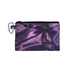 Shiny Purple Silk Royalty Canvas Cosmetic Bag (small)