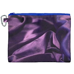Shiny Purple Silk Royalty Canvas Cosmetic Bag (xxl)