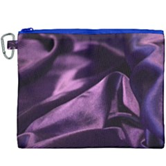 Shiny Purple Silk Royalty Canvas Cosmetic Bag (xxxl) by BangZart
