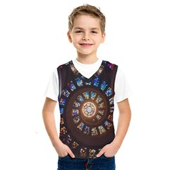 Stained Glass Spiral Circle Pattern Kids  Sportswear