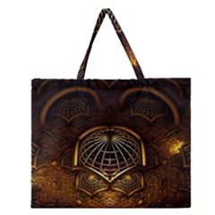 Fractal 3d Render Design Backdrop Zipper Large Tote Bag