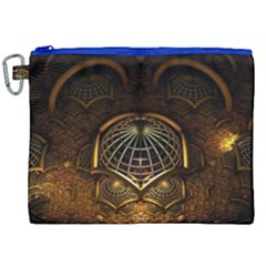 Fractal 3d Render Design Backdrop Canvas Cosmetic Bag (xxl)