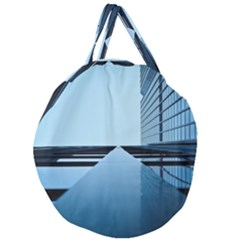 Architecture Modern Building Facade Giant Round Zipper Tote
