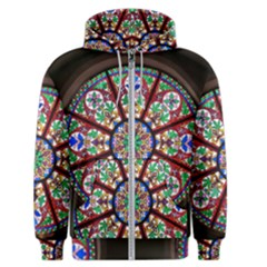 Church Window Window Rosette Men s Zipper Hoodie