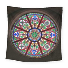 Church Window Window Rosette Square Tapestry (large)