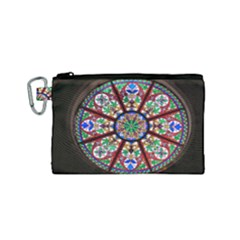 Church Window Window Rosette Canvas Cosmetic Bag (small)