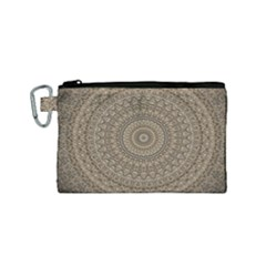 Background Mandala Canvas Cosmetic Bag (small)