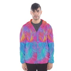 Abstract Fantastic Fractal Gradient Hooded Wind Breaker (men) by BangZart