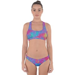 Abstract Fantastic Fractal Gradient Cross Back Hipster Bikini Set by BangZart