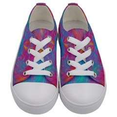 Abstract Fantastic Fractal Gradient Kids  Low Top Canvas Sneakers