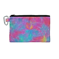 Abstract Fantastic Fractal Gradient Canvas Cosmetic Bag (medium)