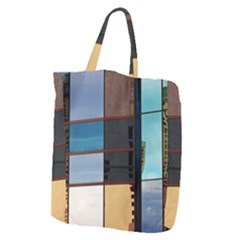 Glass Facade Colorful Architecture Giant Grocery Zipper Tote