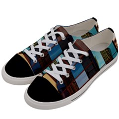 Glass Facade Colorful Architecture Women s Low Top Canvas Sneakers by BangZart